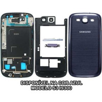Kit Carcaça Aro Tampa Vidro Orignal Samsung Galaxy S3 I9300