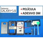 Carcaça+ Vidro Lente Samsung Galaxy S2 Original I9100 Preto