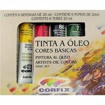 Kit Tinta Óleo Cores Básicas Tela Pintura Artes Kit Pronto