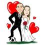 Caricatura Noivos Namorados Convites Formaturas E Banners !