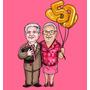 Caricaturas Alta Definição Casamento, Formatura,aniversario