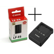 Bateria Canon Lp-e6 Original + Carregador Lc-e6e 60d 7d