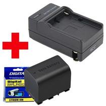 Carregador + Bateria Vg121u P/ Jvc Everio Gz-e10 Hd500 Hd510
