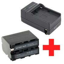 Carregador + Bateria Np-f970 Para Sony Ccd- Trv98 Trv99