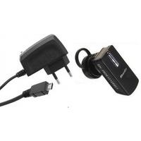 Carregador+fone Bluetooth Celular Samsung Gt-c3312 Gt-c3330