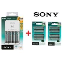 Carregador Sony +12 Pilhas Aa Recarregaveis 2500 Mah Lacrado