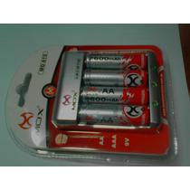 Carregador Bivolt Mox + 4 Pilhas Aa 2600 Mah