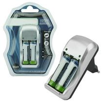 Carregador Multiplo Para Pilhas Aa Aaa E Bateria 9v C/brinde