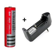 Kit Carregador + 1 Bateria Recarregavel 18650 6000mah 3,7v