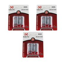Kit Com 12 Pilha Palito Recarregável Mox Aaa 1100