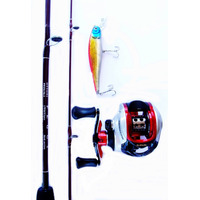 Kit Carretilha Phantom 9 Rol + Vara Peggy 25 Lbs + Brinde