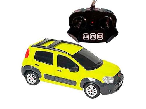 Carrinho Controle Remoto Novo Uno 7 Funções 1/18 Amarelo