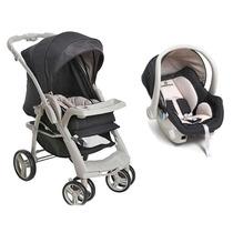 Carrinho De Bebê Optimus E Bebê Conforto Cocoon - Bege