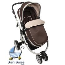 Carrinho De Bebê Dardara Absoluto Marrom (danibebe)