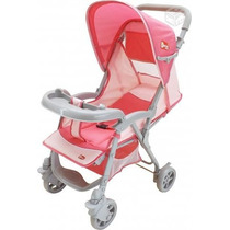 Carrinho De Bebê Tipo Berço/passeio Azul Ou Rosa 03 Posições