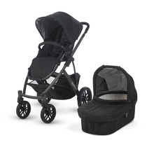 Kit Carrinho De Bebê C/ Moises Uppababy Stroller Preto