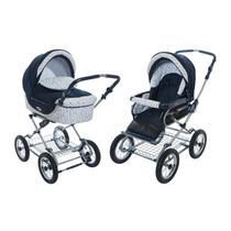 Carrinho Bebê Roan Kortina Stroller 2 Em 1 - Azul Marinho