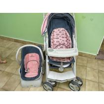 Carrinho Para Bebê Optimus C/ Bebe Conforto Brinde Andador