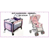 Carrinho De Bebê Berço E Passeio C/ Berço Cercado Baby Style