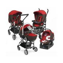 Carrinho De Bebê Trio Living Chicco Vermelho - Usado
