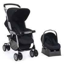 Conjunto Carrinho E Bebê Conforto System Aria Black F/grátis