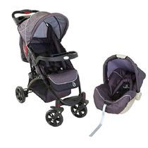 Carrinho De Bebê + Bebê Conforto Athena Preto Galzerano