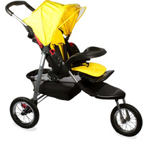 Carrinho De Bebê Triciclo 3 Rodas Badabi Dican Amarelo !