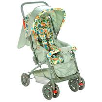 Carrinho De Bebê Funny Com Encosto Reclinável Verde