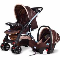 Carrinho E Bebe Conforto System Elegance Marrom Prime Baby