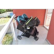 Carrinho Duplo Graco, Mais 2 Bebês-conforto Com Base.