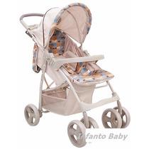 Carrinho De Bebê Berço E Passeio Aquarela Bege Baby Style !