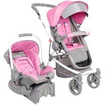 Carrinho, Bebê Conforto, Base Travel System Aspen Rosa Kiddo