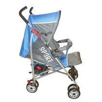 Carrinho Bebê Berço Guarda Chuva Veloce Reclinável Azul