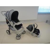 Carrinho Bebê Optimus Preto/cinza + Cocoon + Base Galzerano