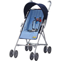 Carrinho De Bebê Modelo Guarda Chuva - Azul