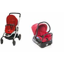 Carrinho Elea Bébé Confort + Bebê Conforto Vermelho