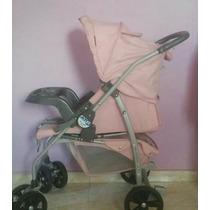 Carrinho De Bebê Burigoto At6 Menina Rosa