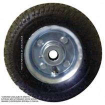 Roda Pneumática 2.50x4 Ou 8x2 Carrinho Carga Carreta Barco