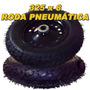 Roda Pneumatica 325x8 Rolamento Carrinho Armazem Plataforma