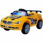 Carro Elétrico Com Controle Remoto Amarelo 6v