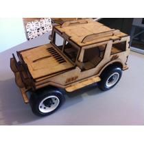 Jeep Feito Em Mdf Brinquedo Carrinho Corte Laser