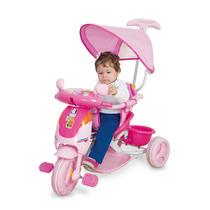 Triciclo Infantil Evolution Rosa C/ Som Luz - Cotiplás