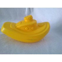 Brinquedo Navio Amarelo De Plástico