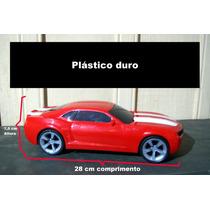 Camaro Ss De Plastico Duro Amarelo Vermelho Preto