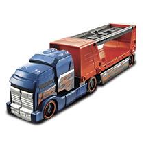 Hot Wheels Caminhão Batida Com Veículo Azul