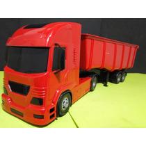 Caminhão Carreta 02 Eixos Caçamba Comp=50cm Larg=12cm A=16cm