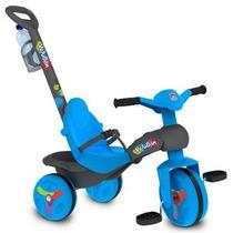 Veloban Passeio Azul C/haste Empurrar Triciclo Bandeirante