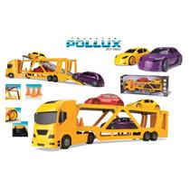 Caminhão Carreta Cegonheira Com 03 Pickups-silmar Brinquedos