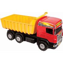 Caminhão Super Caçamba Vermelho - Magic Toys - 12x S/ Juros