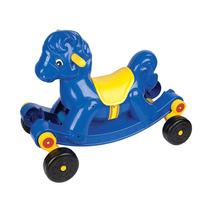 Andador E Balanço Cavalinho Azul Divertido 8301 - Braskit